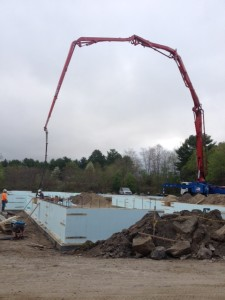 Frost Walls Being Poured on April 11, 2015