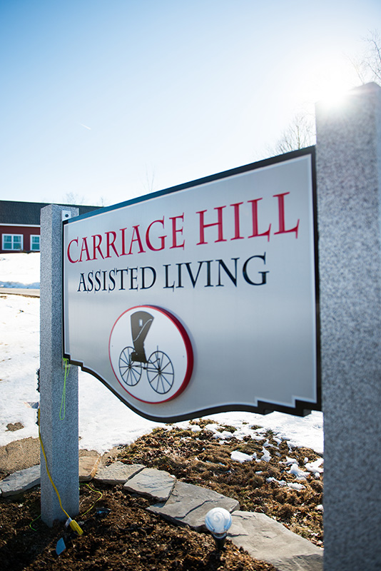 An image of Carriage Hill's outdoor sign.